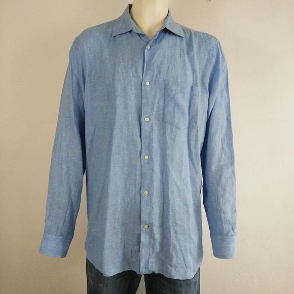 fd9bea49cbb Banana Republic Other - Banana Republic light blue linen men s dress shirt